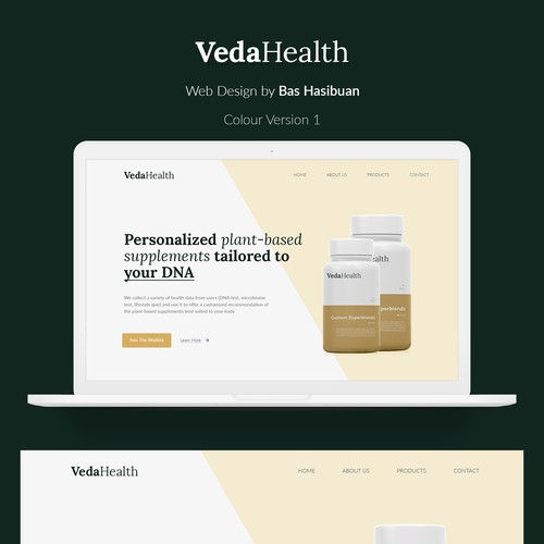 Veda Health - Landing Page for Alternative Medicine