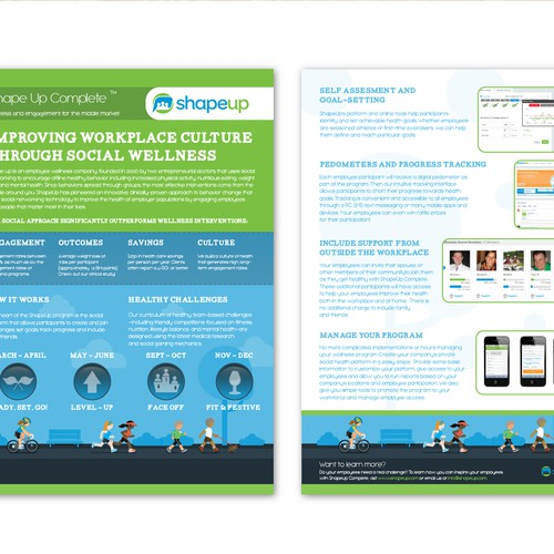 brochure design for ShapeUp Complete, a division of ShapeUp Inc.