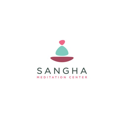 Minimalistic,feminine logo concept for meditation center