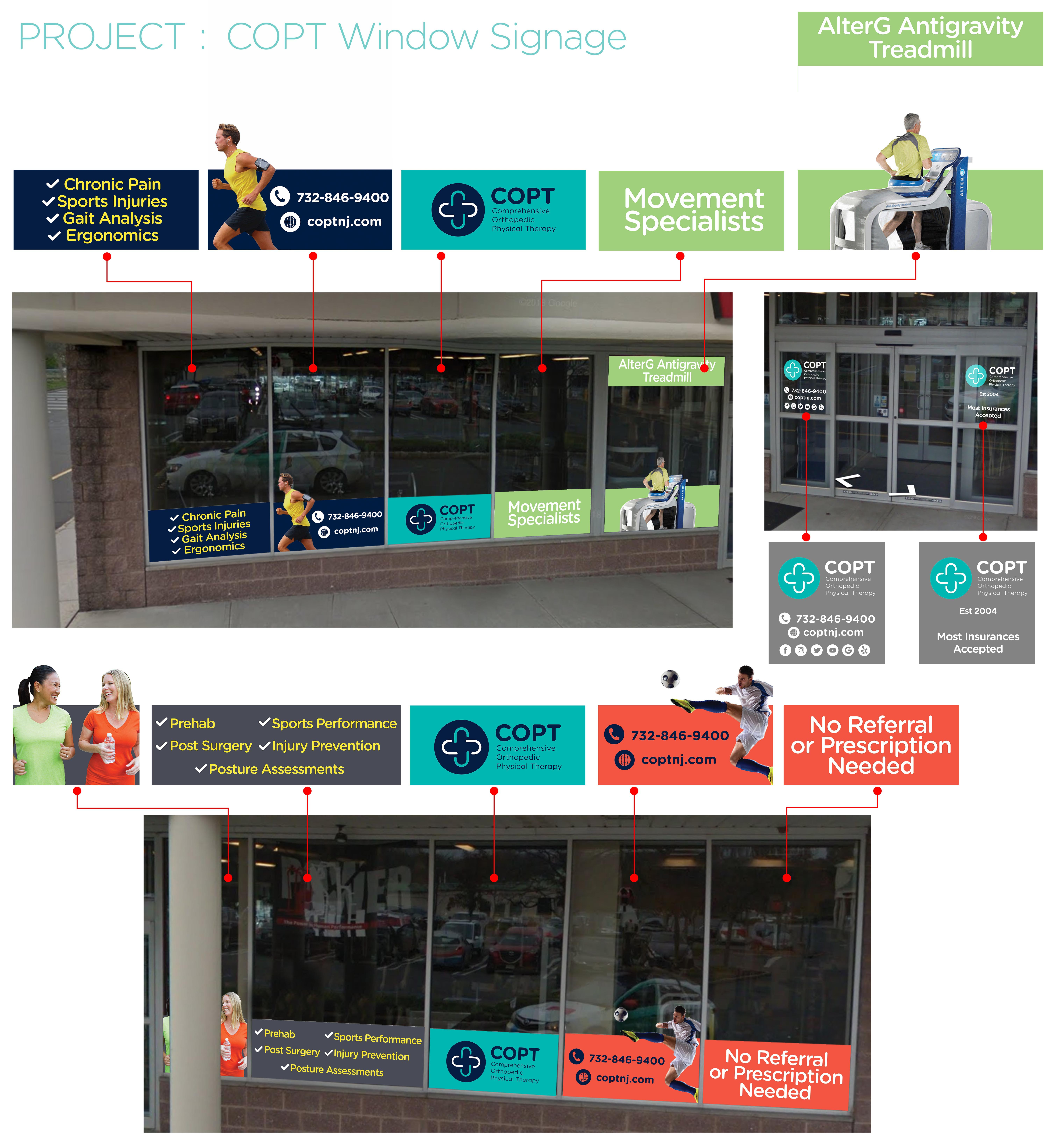 Modern Physical Therapy Window Street Signage