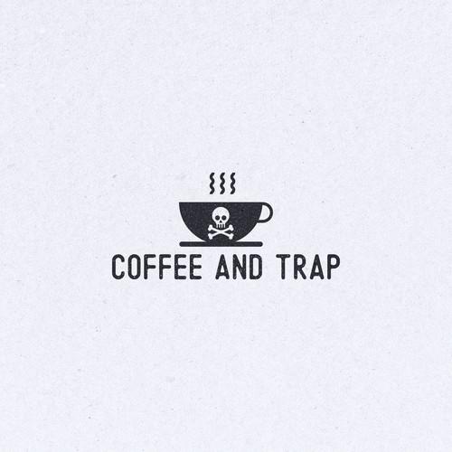 Coffee and trap logo design