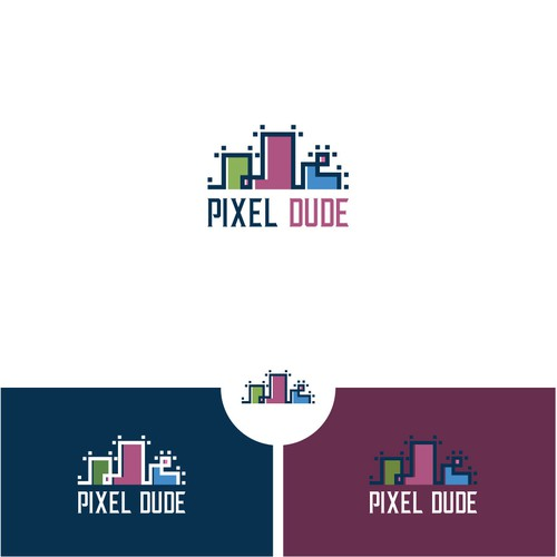 Modern logo for Pixel Dude