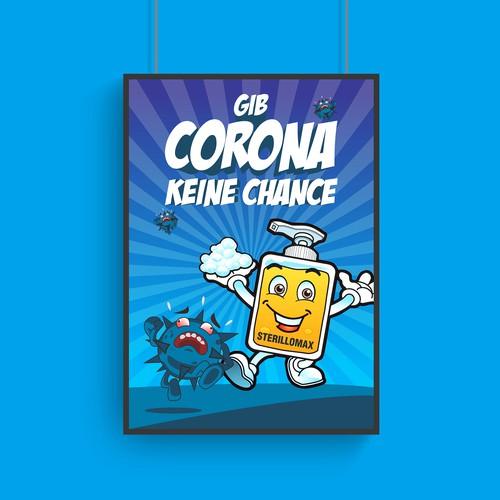 Gib Corona Keine Chance Poster