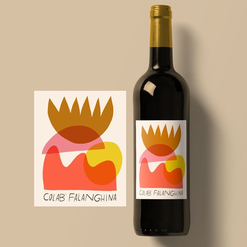 Abstract Shape Wine Label