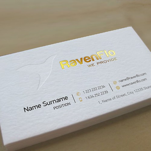 RavenFlo needs a business card