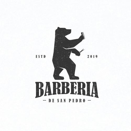 Vintage Logo for Barberia De San Pedro