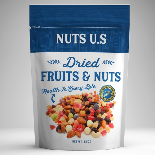 Stand-Up Pouch for Dried Fruits and Nuts
