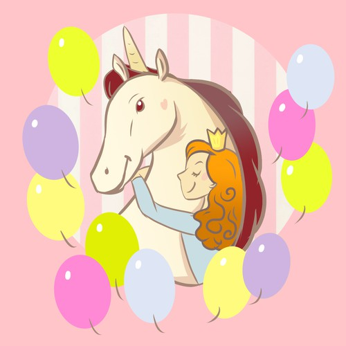 Unicorn birthday box design