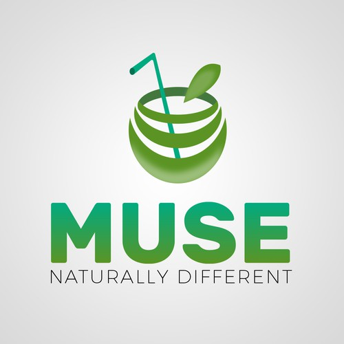 Logo concept for natural juice company.