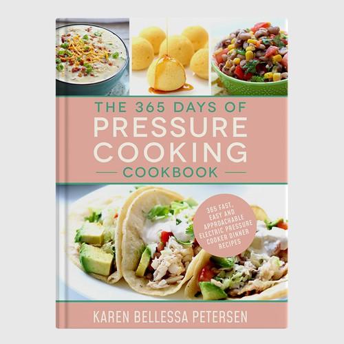 Design a cute cookbook cover for an Instant Pot recipe book