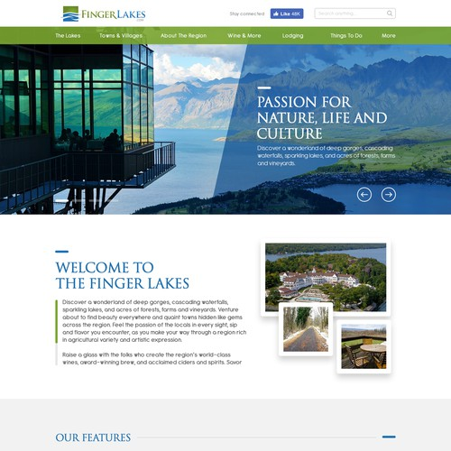 Redesign Interface Finger Lakes