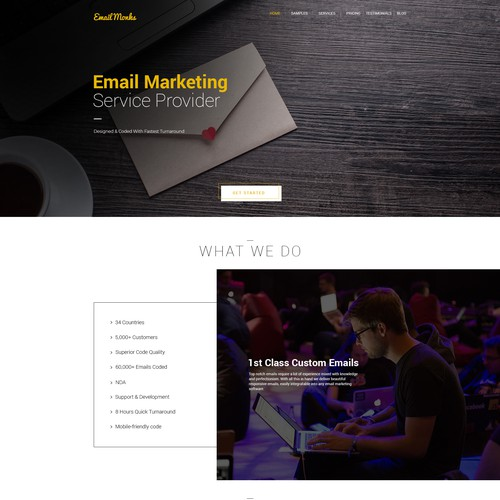 Homepage Redesign for EmailMonks