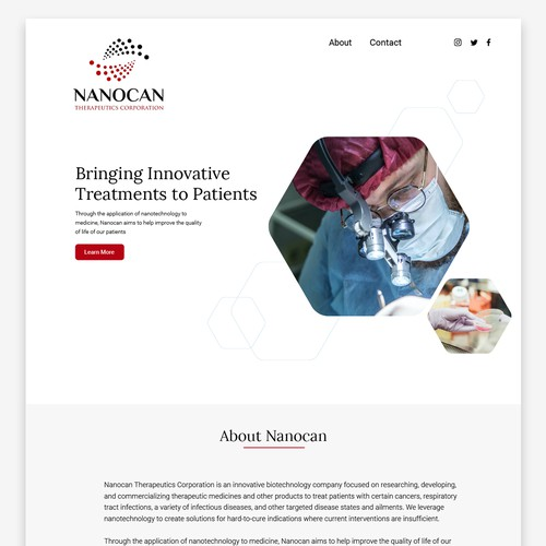 Nanocan Webpage Design