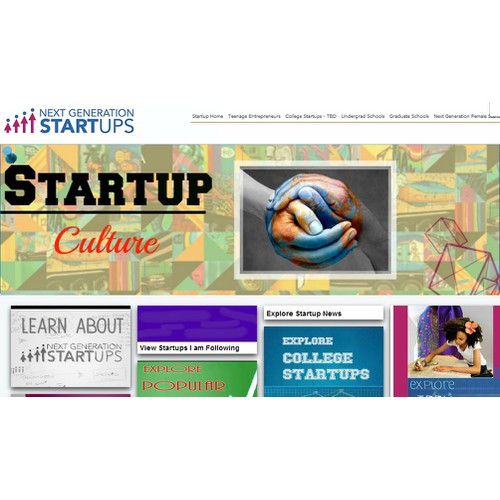 """Design Web Banner and Card for """"Startup Culture"""""""