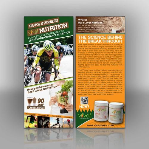 Create a sports drink brochure