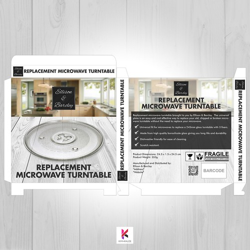 Packaging Design for Microwave Turntable Replacement