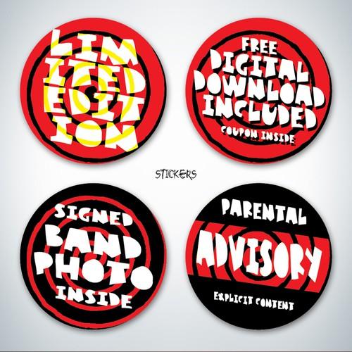 punk Pop Album stickers