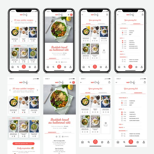 App design for WeChef