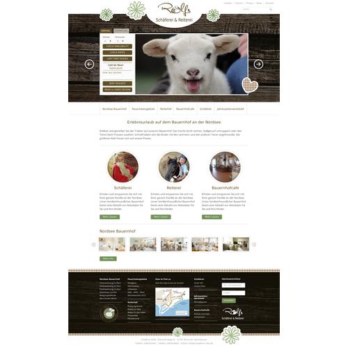 Erstellt ein Webdesign für Urlaub auf einemBauernhof/ Schäferei
