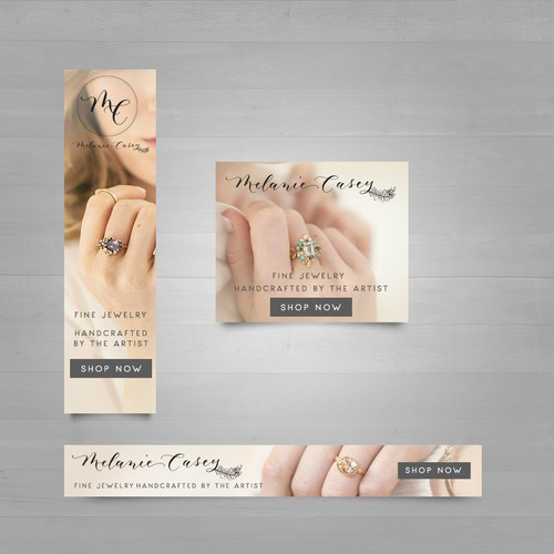 Banner design for Melanie Casey