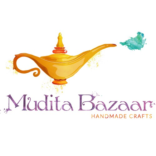 Exotic logo for handmade crafts