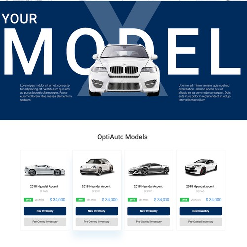 Homepage For A Car Dealership