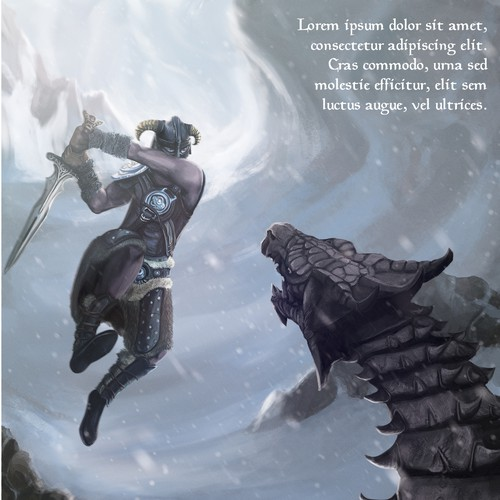 Art print: Warrior fights with dragon in the north