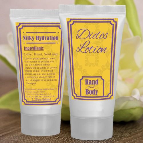 Label design concept for lotion