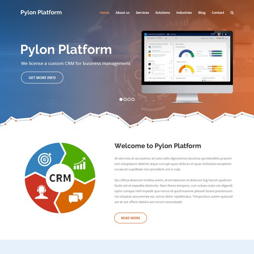 Website concept for Pylon