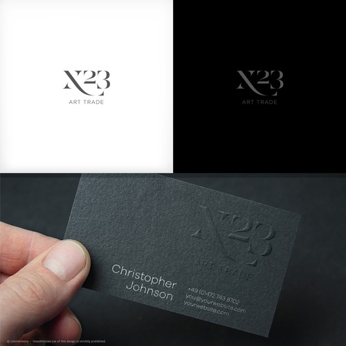 Logo & Business Cards design for fine art trade / gallery / art advisory.