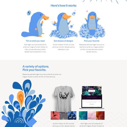 Illustrations concept for website