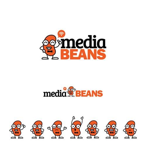 MediaBeans Logo Design