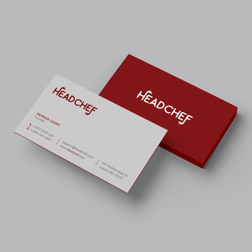 Clean and elegant letterpress business card