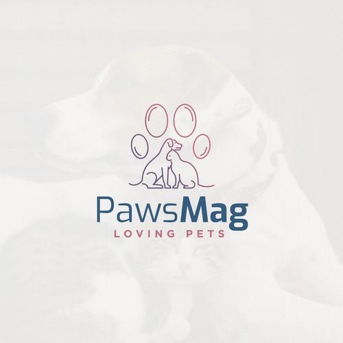 Logo for an online petshop