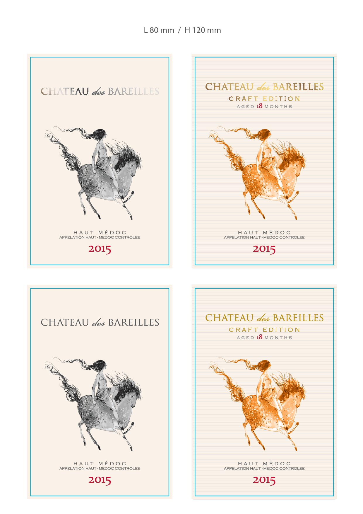 Wine Label for French Chateau of renewed traditions