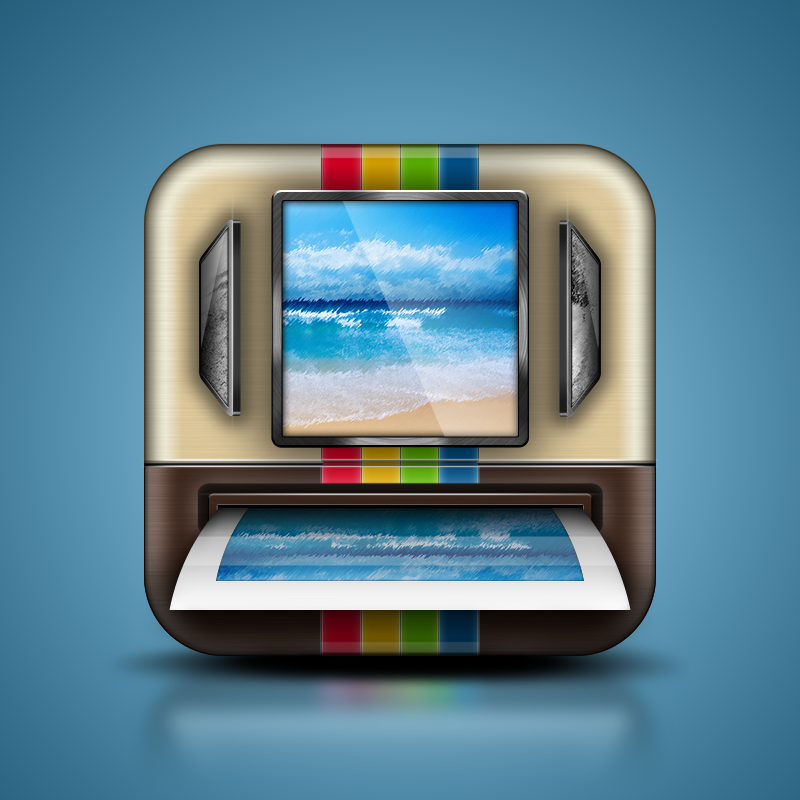 iOS Mobile Icon for iPrintagram App Update