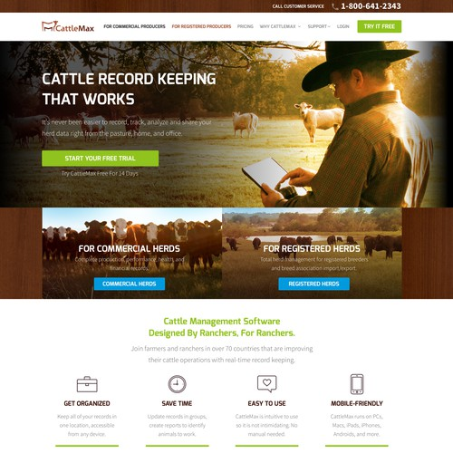 Agriculture Farm SaaS Website