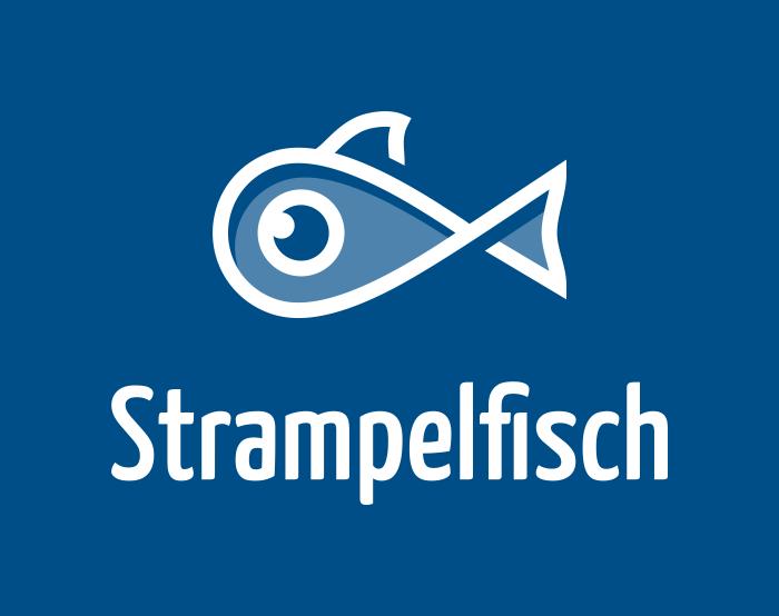 Logo für Start-up in der Medien-/ Verlagsbranche: strampelfisch.de