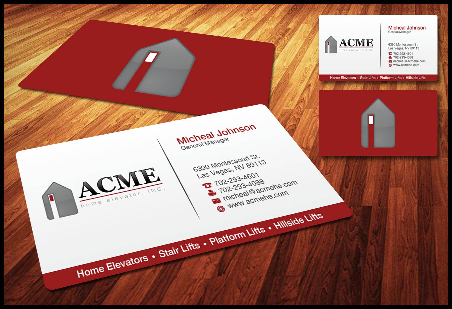 Help ACME Home Elevator with a new business card!