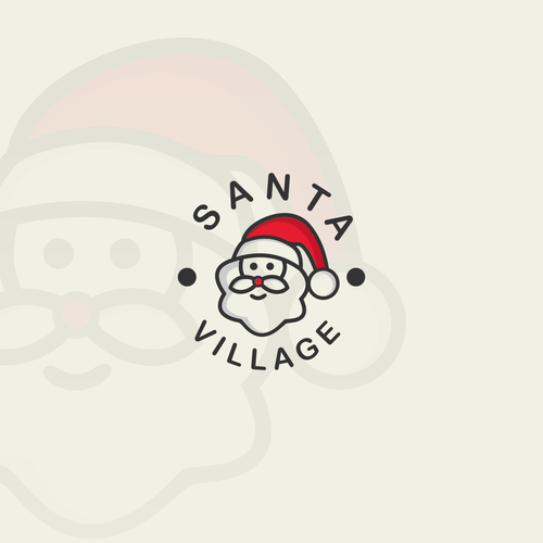 logo design, design santa clause , funny, cartoon