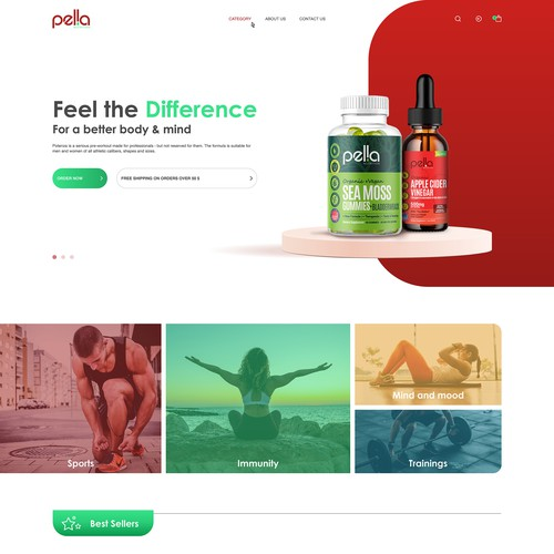 Website for New Health brand