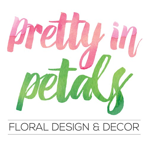 Watercolour logo design for florist