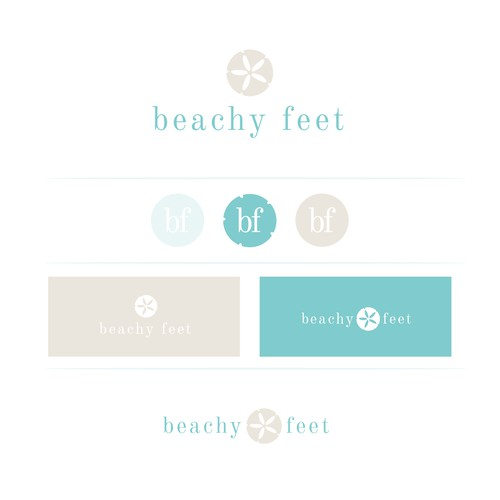 Relaxed upscale logo for beachwear jewellery brand.