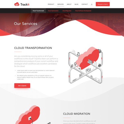 Trackit.io Website Design