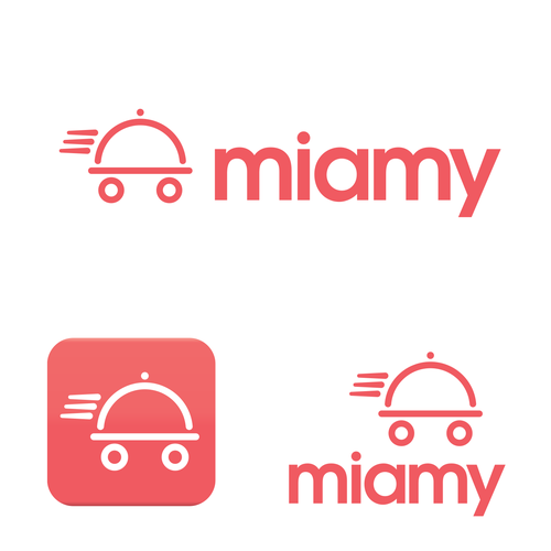 Logo for mobile app for food delivery and recipes