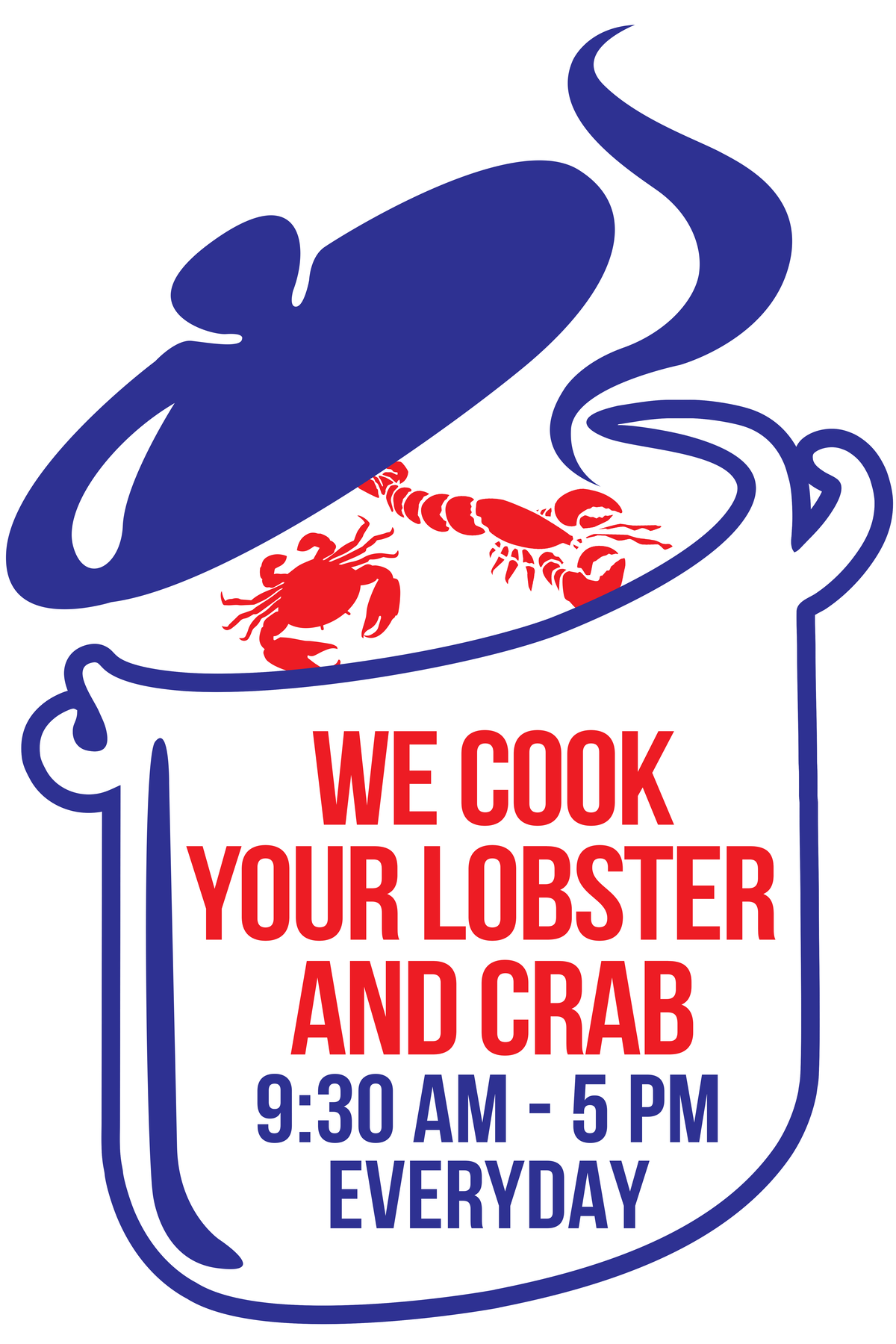 Cooking Sign for Seafood