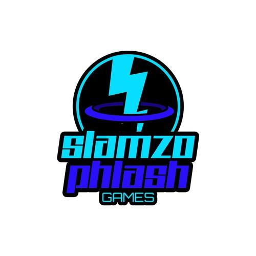 """Logo Concept for """"Slamzo Phlash Games"""""""