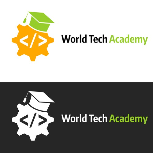 Logo for international coding school