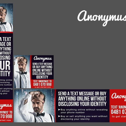 Banner ads for an anonymous service