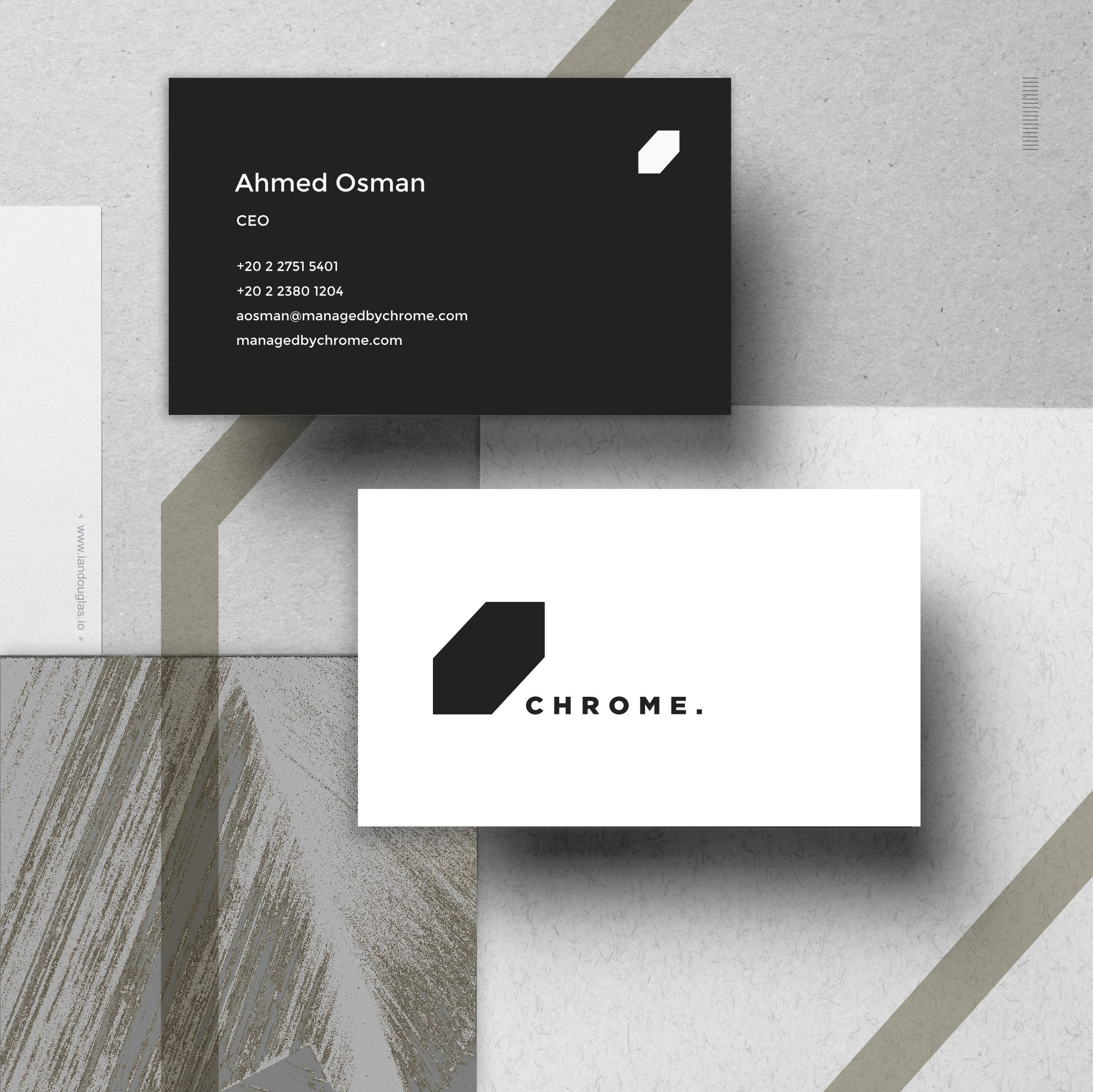 Business cards for Chrome